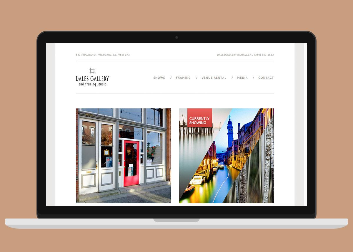 Dales Gallery Website