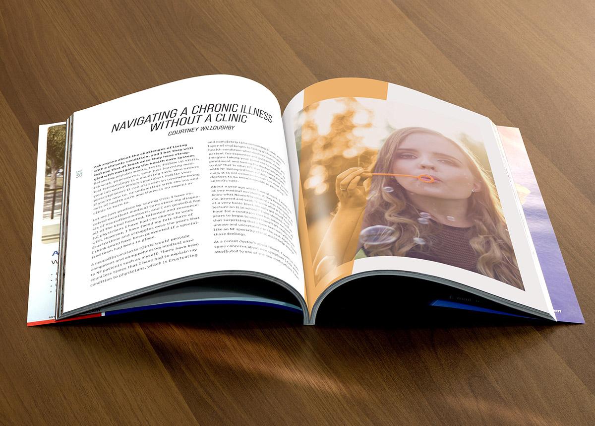 Inspire Magazine spread